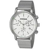 Wenger Men's Urban Classic Stainless Steel Swiss-Quartz Stainless-Steel Strap, Silver, 19.7 Casual Watch (Model: 01.1743.106)