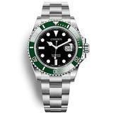 CISSDEN Men's Automatic Stainless Steel Mechanical Watch, Sapphire Mirror 100 Meters Waterproof Luminous Fashion Watch (Green Black)