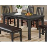 Gracie Oaks Zareen 6 Piece Solid Wood Dining Set Wood/Upholstered Chairs in Gray, Size 6.0 H in | Wayfair CDF5E9554C364FA7A9CAF58BE155946C
