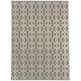 George Oliver Lilwenn Geometric Area Rug Polyester in Brown/White, Size 72.0 H x 48.0 W x 0.08 D in   Wayfair 6706EB4FBE4E4AA69A640D755E62E1C8