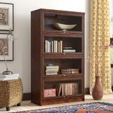 World Menagerie Didier Barrister Bookcase Wood in Yellow, Size 58.0 H x 32.5 W x 14.0 D in | Wayfair WLDM8175 40131220