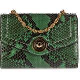 Women's Clutch With Shoulder Strap Handbag Bag Purse Pitone - Green - d''Este Shoulder Bags