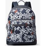 Hudson Scattered Logo Backpack - Blue - Michael Kors Backpacks