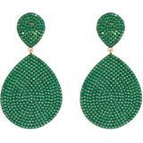 Monte Carlo Earring Gold Emerald Zircon - Green - Latelita London Earrings