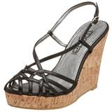 Moda Spana Women's Nissa Cork Wedge Sandal,Black Antique,8.5 M US