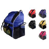 Tiki-Taka Soccer Backpack - Basketball Backpack - Youth Kids Ages 6 and Up - with Ball Compartment - All Sports Bag Gym Tote Soccer Futbol Basketball Football Volleyball (Blue)