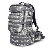 Danoensit 50L Waterproof Tactical Backpack Assault Military Rucksacks Backpack Camping Hunting Bag ACU