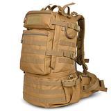 Danoensit 50L Waterproof Tactical Backpack Assault Military Rucksacks Backpack Camping Hunting Bag Brown