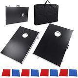 GOTOTOP Potable Aluminum MDF Sandbag Outdoor Fun Table Board Game Bean Bag Toss Tabletop Set