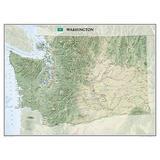 Washington State Wall Map Material: Laminated