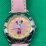 Disney Accessories | 3$12.Disney Girls Minnie Mouse Time Teacher Watch | Color: Pink/Silver | Size: Osg