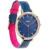 Montmartre Rose Gold Watch With Royal Blue & Hot Pink Strap - Pink - Auree Jewellery Watches
