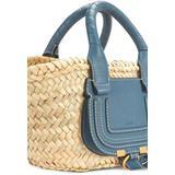 Marcie Small Basket Handbag - Blue - Chloé Totes