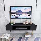YYZZ Floating TV Stands,Wall Mounted Media Console Storage Component Shelves,Wall Mounted Entertainment Center Media Console for AV Receiver/Xbox/Cable Boxes/Gaming Systems