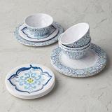 Seville Tile Melamine 12-piece Dinnerware Set - Frontgate