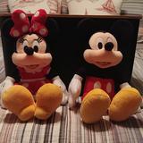 Disney Toys | Disney Mickey And Minnie Plush Toys | Color: Black/Red | Size: Osbb