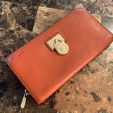 Michael Kors Bags | Mk Michael Kors Credit Card Wallet Leather | Color: Orange | Size: Os