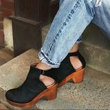 Free People Shoes   Free People Amber Orchard Black Leather Clog Sz 41   Color: Black/Tan   Size: 11