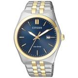 Eco-drive Blue Dial Two-tone Watch -66l - Metallic - Citizen Watches
