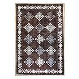Blue Nile Mills Modern Diamond Geometric Indoor Area Rug Collection, Floral and Diamond Scatter Accent or Area Rug with Durable Latex Spray Backing, 5 x 8', Brown-Beige