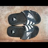 Adidas Shoes | Adidas Sport Sandals Slide On Size Youth 2 | Color: Black/White | Size: 2bb