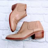 Madewell Shoes | Madewell Tan Leather Ankle Boots | Color: Brown/Tan | Size: 7.5