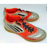 Adidas Shoes | Adidas Futsal Indoor Soccer Shoe Gum Cleat Youth 2 | Color: Orange/Silver | Size: 2bb