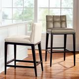 """Gramercy Bar & Counter Stool in Dark Espresso - Performance Linen Green Clay Bar Height, Performance, 30"""" Bar Height, Special Order - Frontgate"""