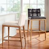 """Gramercy Bar & Counter Stool in Sandstone - Performance Linen Green Clay Counter Height, Performance, 26-3/4"""" Counter Height, Special Order - Frontgate"""
