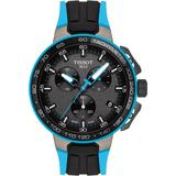 T-sport T-race Cycling Chronograph Silicone Strap Watch - Metallic - Tissot Watches