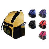 Tiki-Taka Soccer Backpack - Basketball Backpack - Youth Kids Ages 6 and Up - with Ball Compartment - All Sports Bag Gym Tote Soccer Futbol Basketball Football Volleyball (Yellow)