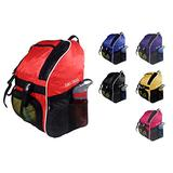 Tiki-Taka Soccer Backpack - Basketball Backpack - Youth Kids Ages 6 and Up - with Ball Compartment - All Sports Bag Gym Tote Soccer Futbol Basketball Football Volleyball (Red)