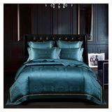 Comforter Queen Bedding set , Luxury Bedding Set Egyptian Cotton Bedding 4Pcs Gray King Queen Size Duvet Cover Bed Sheet Set Pillowcases King Cotton Duvet Cover ( Color : Dark green , Size : Queen )
