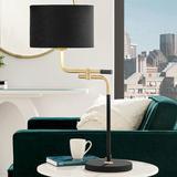 Lite Source Crisanta Black w/ Antique Brass Metal Table Lamp