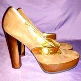Coach Shoes | Coach Davine Suede Mary Jane Heels | Color: Brown | Size: 8.5