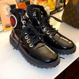 Zara Shoes | Kids Mickey Mouse Zara Combat Boots | Color: Black | Size: 2.5bb