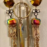 Urban Outfitters Jewelry   Rainbow Crystal Quartz Necklace & Rainbow Earrings   Color: Gold   Size: Os