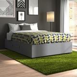 Zipcode Design™ Jakayla Upholstered Low Profile Storage Platform Bed Upholstered/Polyester/Polyester blend in Gray   Wayfair