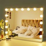 Rosdorf Park Lex Large Frameless Lighted Makeup Mirror, Size 23.0 H x 18.0 W x 5.0 D in   Wayfair 844C8E91163A4B6DB376D94B5ACAD50A