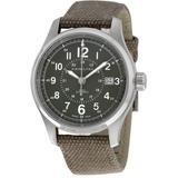 Khaki Field Automatic Green Dial Mens Watch - Green - Hamilton Watches
