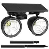 Solar Light Outdoor Landscape Lighting Waterproof Spotlight 2-in-1 Wall Light Decorative Lighting with 4 Working Modes Cold White& Warm White Patio Lights Solar Flood Lights Solar Landscape Lighting