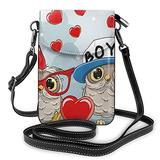 Crossbody Cell Phone Purse Cute Owl Small Crossbody Bags Women Pu Leather Shoulder Bag Handbag
