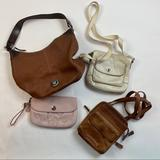 Dooney & Bourke Bags | Lot Of 4 Purses Shoulder Wristlets Crossbody | Color: Brown/Cream | Size: See Pictures