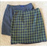 J. Crew Skirts   J.Crew 2 Skirt Bundle Cute Wool Herringbone Sz 10   Color: Gray/Green   Size: 10