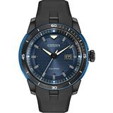 Casual Black Strap Eco Watch - Blue - Citizen Watches