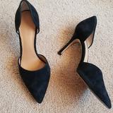 J. Crew Shoes | J.Crew Womens Black Suede D'Orsay Casual Pumps 7 | Color: Black | Size: 7