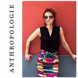 Anthropologie Skirts   Anthropologie Dolce Vita Sorbet Abstract Skirt   Color: Green/Pink   Size: 12