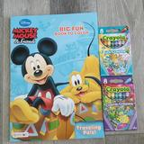 Disney Toys   Coloring Book With Crayons   Color: Black   Size: Na