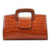 ZLMBAGUS Women Crocodile Pattern Leather Shoulder Handbag Vintage Flap Tote Top Handle Satchel Handbags Large Clutch Purse