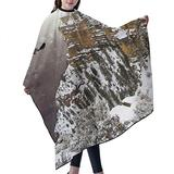"""Haircut Cape Eagle Flying Above Grand Hair Salon Cape with Telescopic Buckle Hair Styling Cape for Unisex Kids Waterproof Anti-Static Cloak for Family and Hair Salon Hair Cutting Cape W55"""" L66"""""""